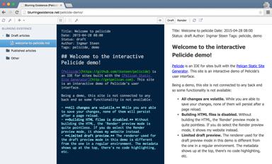 Pelicide demo screenshot